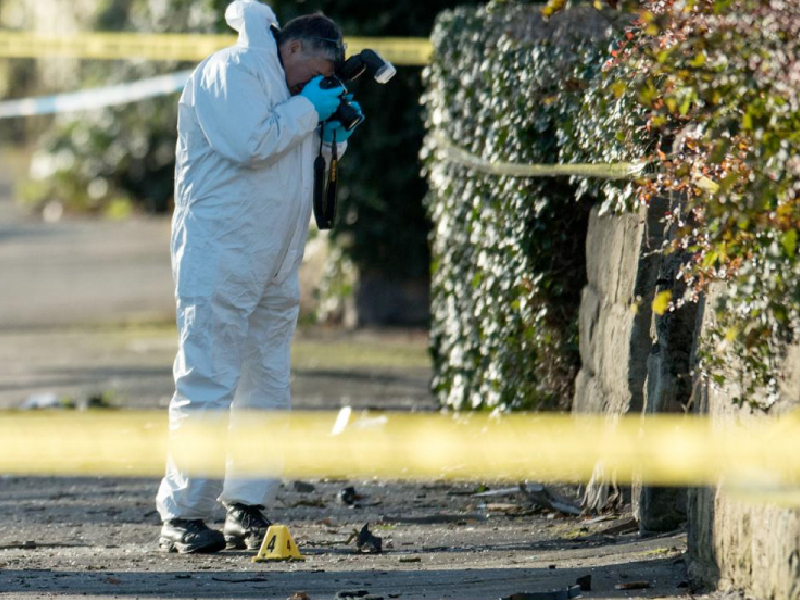 Crime and Forensic Investigator on a Crime Scene